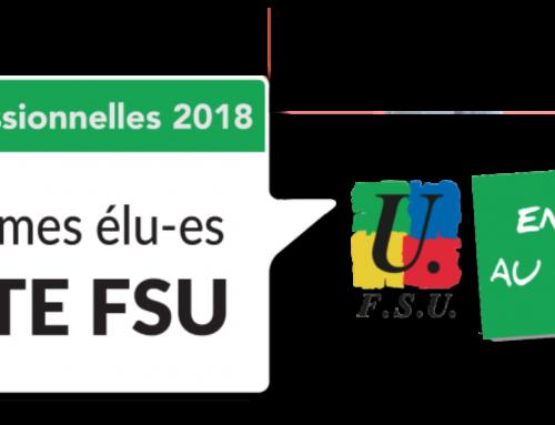 Élections professionnelles 2018 : Le 6 décembre, votez FSU !